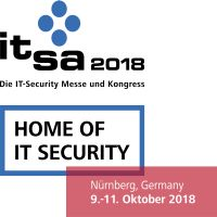Logo it-sa 2018 mit Claim und Datum © it-sa